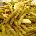 Roasted Green Bean & Onions