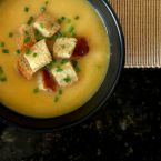 Butternut and Leek Soup with Red Lentils
