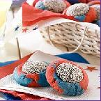 4th of July Thumbprint Cookies