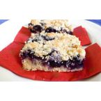 Spiked Blueberry Crumb Bars
