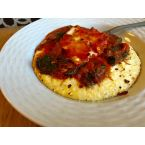 Italian Poached Eggs over Polenta