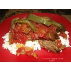 Crockpot Pepper Steak With Onions & Tomatoes