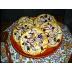 Focaccia with Red Onion and Kalamata Olives