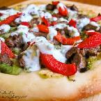 Lamb Pizza w/ Roasted Capsicum & Chive Yoghurt