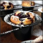 Blackberry Buttermilk Popovers