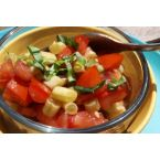 Gen's Easy Raw Bean Tomato Salad