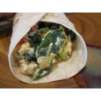 Veggie breakfast burritos, ready to eat