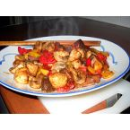 Sauteed mushrooms with soybean paste
