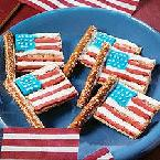 No-Bake Flag Cookies