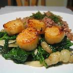 Broiled Scallops With Honey