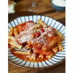 Carlo's slow braised pork over rigatoni