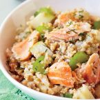 Salmon-Oat Hash with Celery & Apple