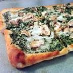 Spinach Alfredo Pizza with Mushrooms