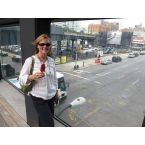 Enjoying a red plum tarragon ice pop on the High Line over 10th Ave., NYC