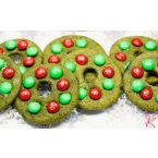 Japanese Matcha Green Tea Christmas Wreath Cookies