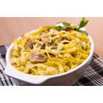 Fettuccine with Porcini Mushroom and White Wine