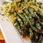Image of ASPARAGUS WITH MUSTARD VINAGRETTE, Bakespace