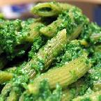 Spinach Penne with Extra-Green Pesto