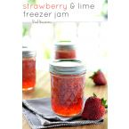 Strawberry & Lime Freezer Jam