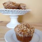 Pumpkin Cream Cheese Muffins with Pecan Streusel