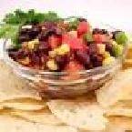 Black Bean Salsa w/Toasted Cornbread Twists
