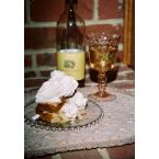 Voluptuous Vanilla Pound Cake With A Moscato Wine And Pear Syrup