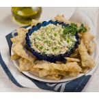 Dip with green peppers and melichloro