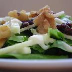 Image of Apple, Dried Cherry, And Walnut Salad With Maple Dressing, Bakespace