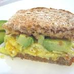Image of Avocado And Egg Sandwich With Tillamook Cheddar On Whole Wheat, Bakespace