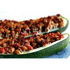 Stuffed Zucchini with Turkey Sausage Recipe