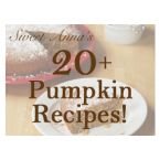 20+ Pumpkin Recipes!