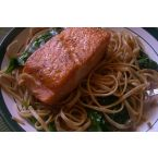 Whole Wheat Linguine with Lemon, Basil, and Salmon