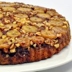 Banana Hazelnut Caramel Upside Down Cake