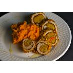 Mambo Pork Rolls with Sweet Potatoes