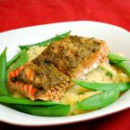 Pesto Baked Salmon