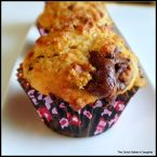 Peanut Butter-Banana Dark Chocolate Chunk Muffins