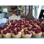 Raspberry Pastry Cream Tartlets