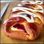 Eggnog and Cranberry Christmas Braid