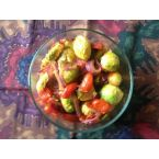 Brussel Sprouts with Roma Tomatoes