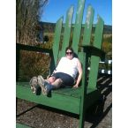 me in oversize adirondak chair at the point barn in danville pa