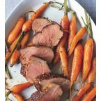 Spice Rubbed Pork Tenderloin With Roasted Baby Carrots