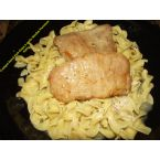 Crockpot Ranch Pork Chops & Garlic Noodles Parmesan