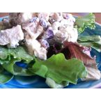 Curried Chicken Salad with Red Grapes and Walnuts