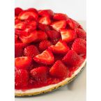Strawberry Sweet Cream Fruit Pizza Pie