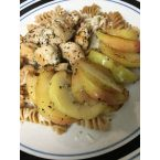 Italian Chicken w/ Wheat Pasta, Mozzarella and Satueed Apples