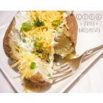 Leek Stuffed Baked Potatoes