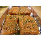 Dinner:  Grilled Maple Syrup Salmon