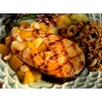 Pan-Grilled Salmon with Fruit Sauce