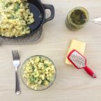 White Cheddar Pesto Mac & Cheese