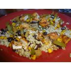 Super Easy Chicken and Pepper Mexican Spiced Rice Stir Fry